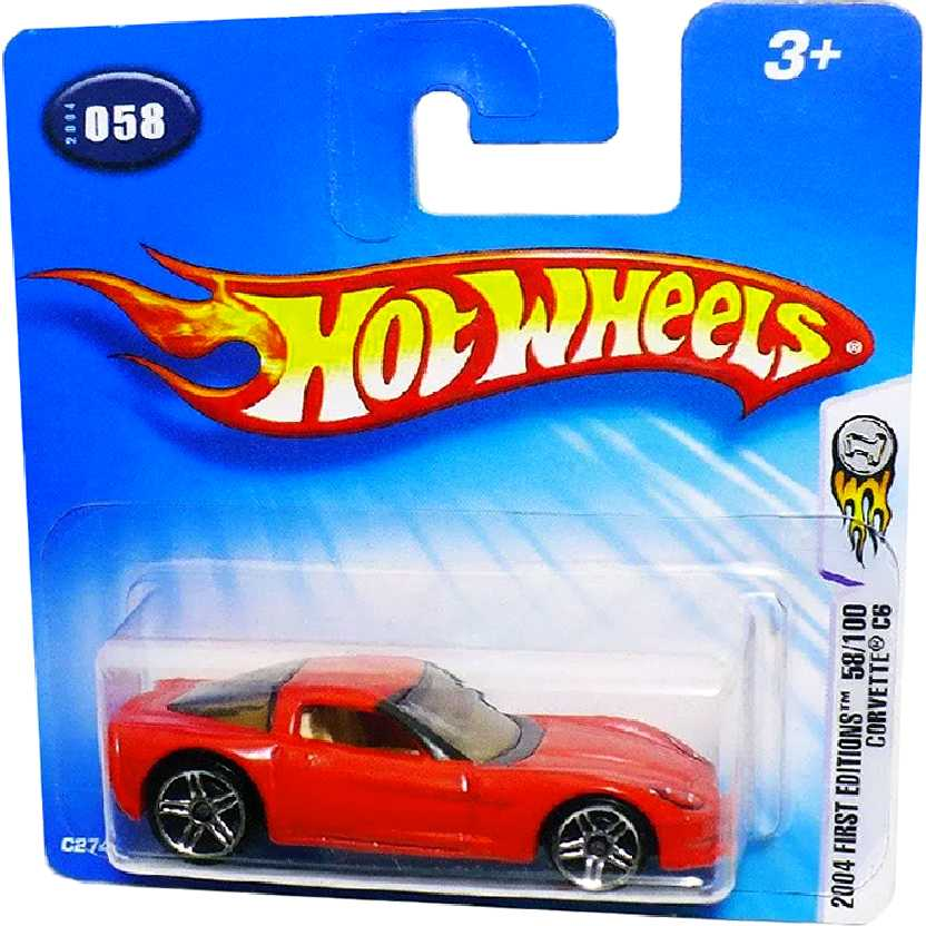 Poster Hot Wheels 2004 First Editions Corvette C6 series 58/100 C2741 escala 1/64