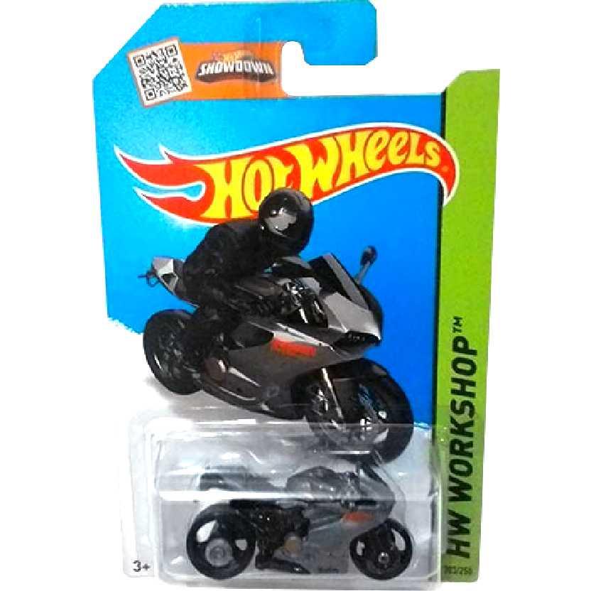 Poster Hot Wheels 2015 Ducati 1199 Panigale cinza CFH92 serie 203/250 escala 1/64