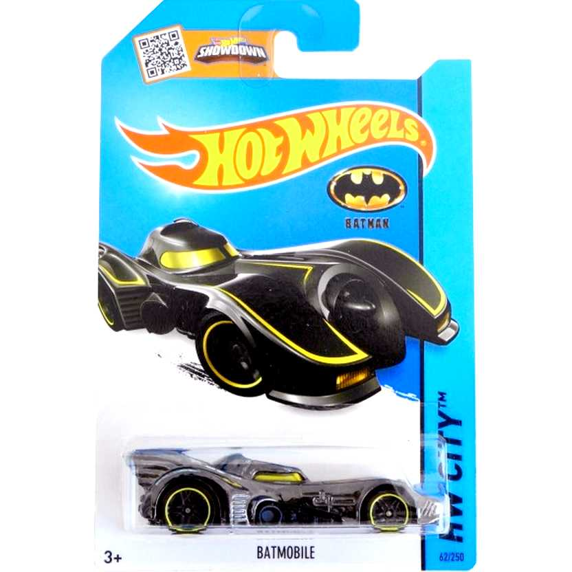 Poster Hot Wheels 2015 Michael Keaton Batmobile CFJ50 series 62/250 escala 1/64