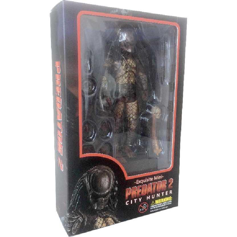 Predator 2 City Hunter Predador II Exquisite Mini Hiya Toys escala 1/18