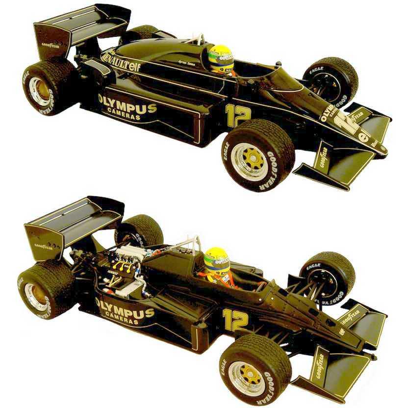 Primeira vitória de Ayrton Senna (1985) Lotus 97T escala 1/18 GP Portugal Limited Edition 500