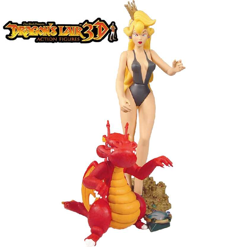 Princess Daphne + Fire Drake Dragons Lair 3D action figures