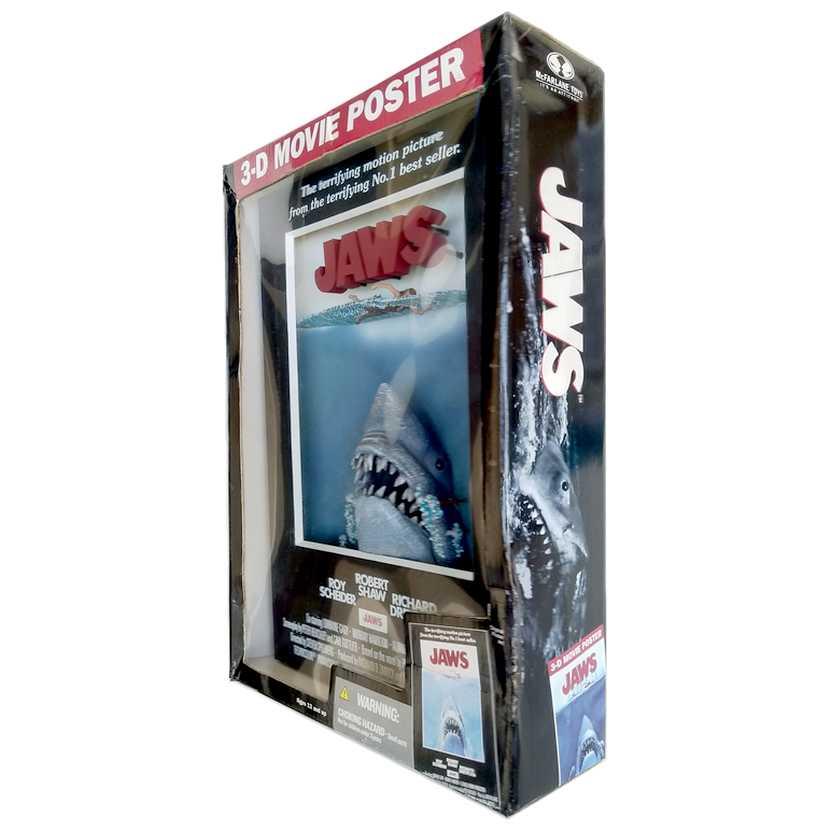 Quadro 3D Album Cover - Tubarão ( Mcfarlane Toys ) Jaws 3-D Movie Poster