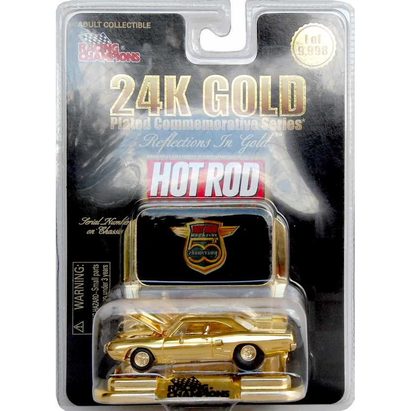 Racing Champions 24K Gold series 1970 Dodge Super Bee Hot Rod Magazine 1/9998