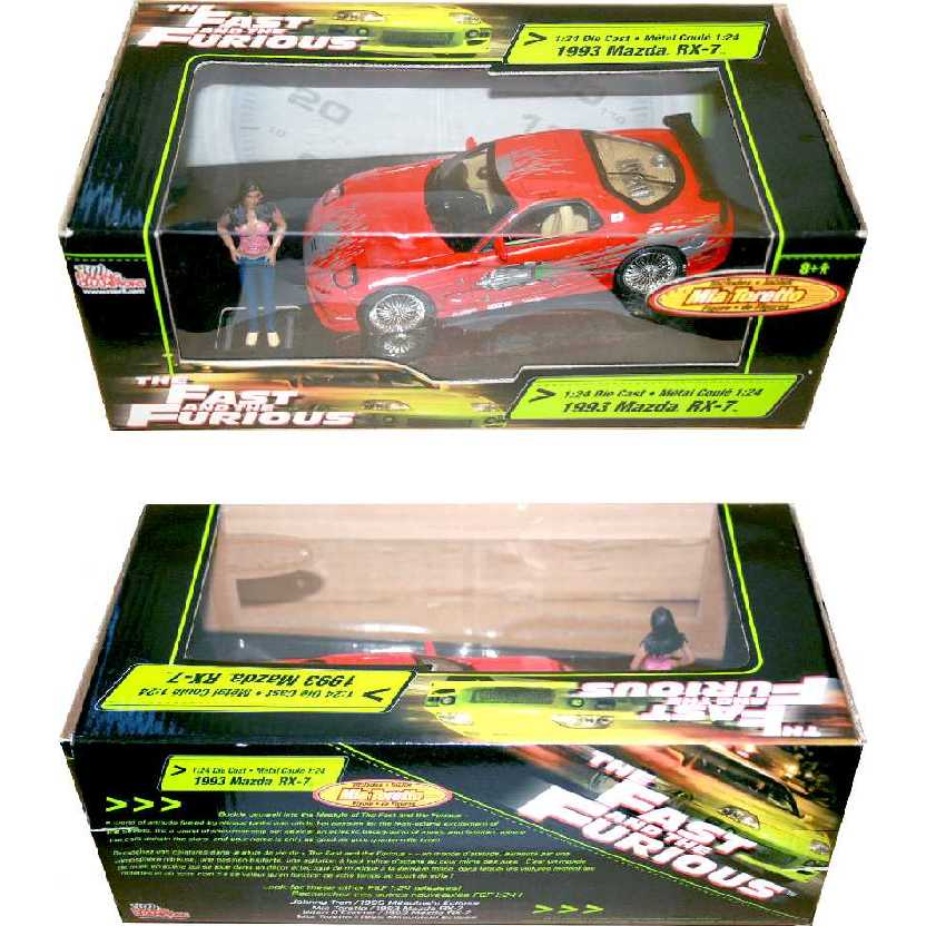 Racing Champions The Fast and Furious 1993 Mazda RX-7 + Mia Toretto figure escala 1/24