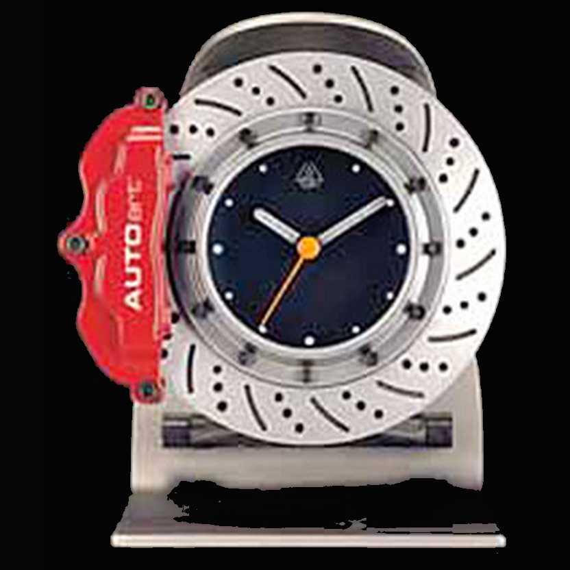 Relógio de Mesa suspensão e freio à disco da marca Autoart (Auto Art) com alarme