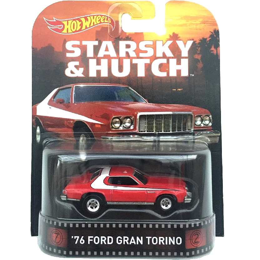 Retro Entertainment Hot Wheels Starsky e Hutch 76 Ford Gran Torino CFR34 escala 1/64