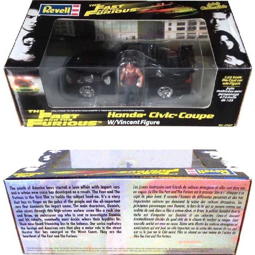 Revell The Fast and The Furious 95 Honda Civic Coupe com Vincent escala 1/24