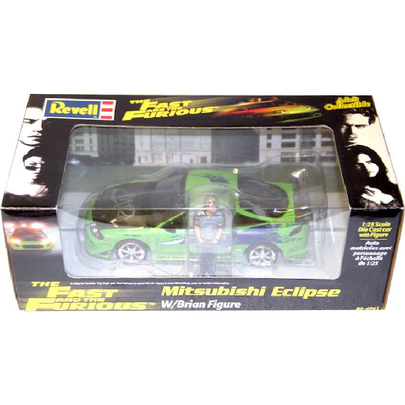 Revell The Fast and The Furious 95 Mitsubishi Eclipse com Brian escala 1/24