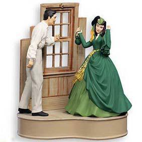Rhett Butler e Scarlett com som e movimento (E o Vento Levou)