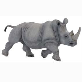 Rinoceronte pintado a mão