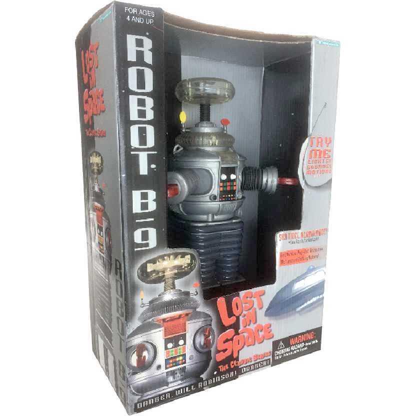 Robô B-9 do Seriado Perdidos no Espaço (Lost in Space) com som Trendmasters RARO