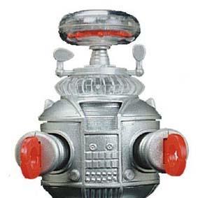 Robô B-9 do seriado Perdidos no Espaço (movido à corda) Robot YM-3 Windup 1997