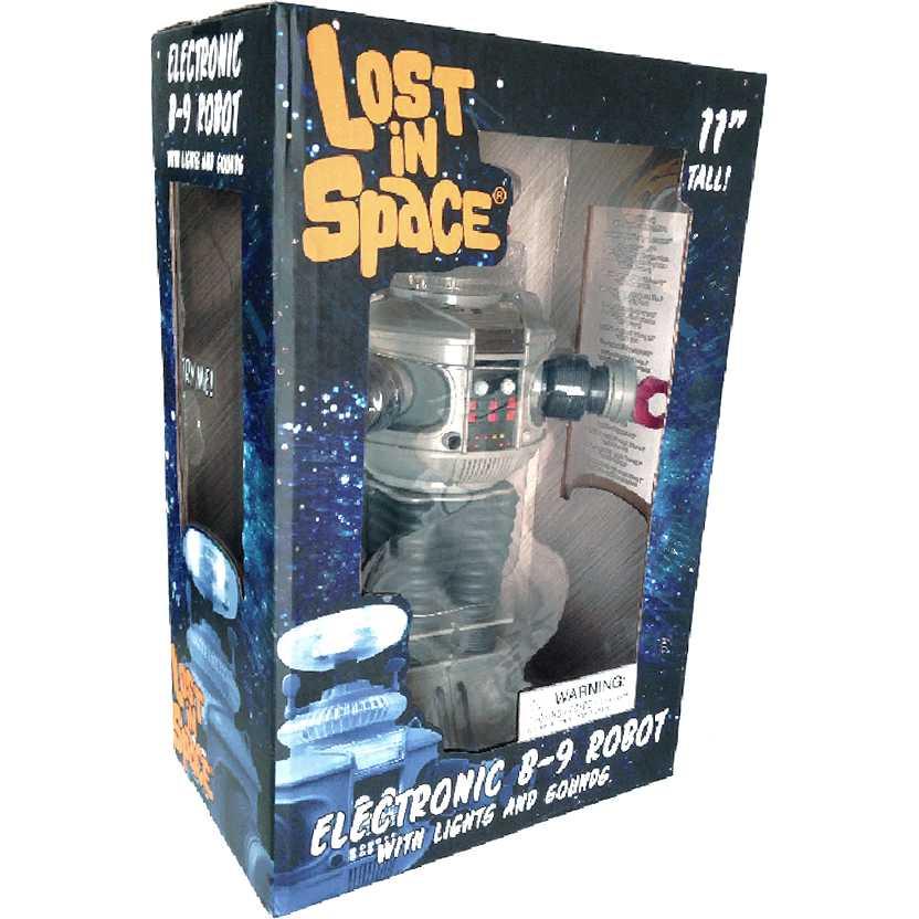 Robô B-9 Perdidos no Espaço com som e luz (fala 15 frases) Diamond Select