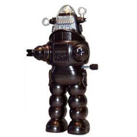 Robô Robby do Filme O Planeta Proibido (Forbidden Planet) movido à corda