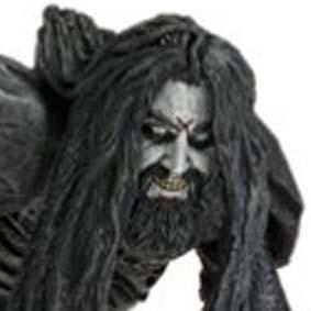 Rob Zombie (aberto) com diorama 24x15 cm