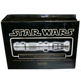 Sabre de Luz Star Wars Darth Maul Battle Damaged Lightsaber
