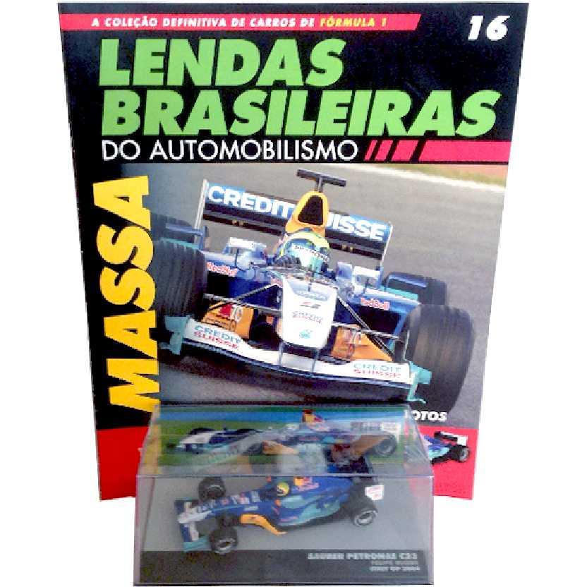 Sauber Petronas C23 Felipe Massa Lendas Brasileiras #16 do Automobilismo escala 1/43