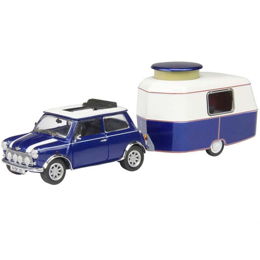 Schuco escala 1/43 : Mini Cooper com trailer (acompanha caixa de acrílico)