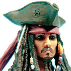 SCI-FI Revoltech Jack Sparrow series 025 - Bonecos Kaiyodo
