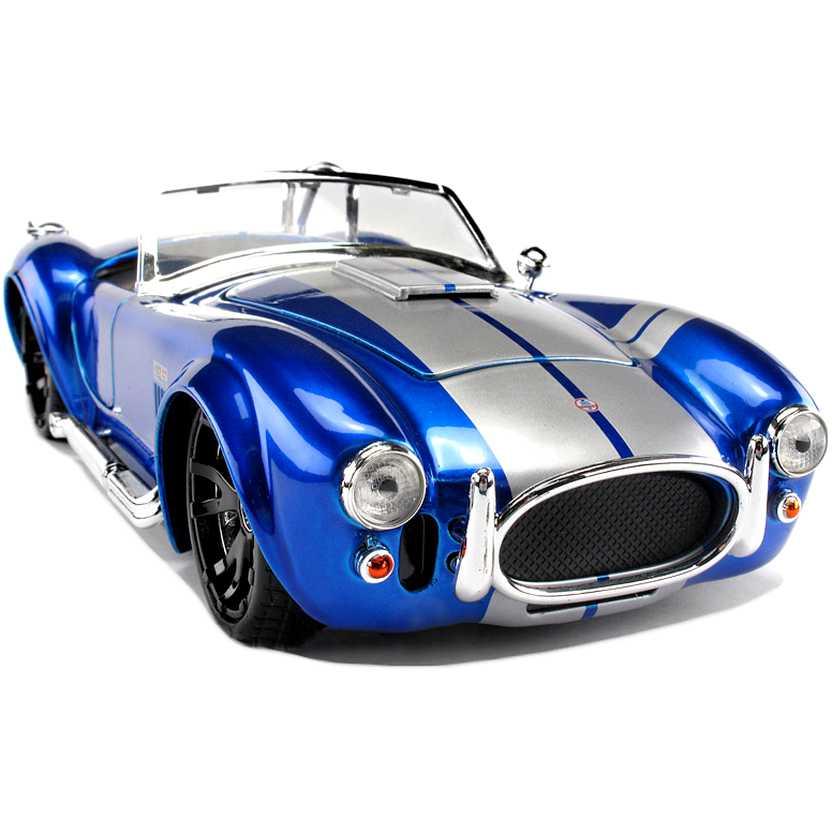 Shelby Cobra 427 S/C azul metálico  (1965) marca Jada Toys escala 1/24