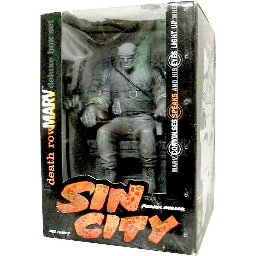 Sin City Death Row Marv Deluxe Box set (comic book) marca McFarlane Toys com som e luz