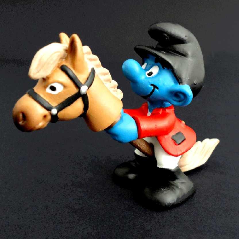 Smurf Cavaleiro (Hipismo) marca Schleich 20743 Rider Smurf
