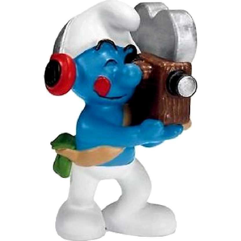 Smurf Cinegrafista marca Schleich 20714 Cameraman Smurf