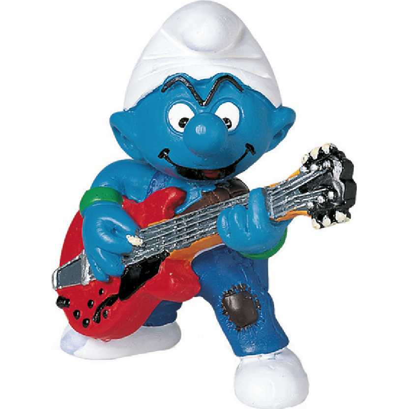 Smurf Guitarrista marca Schleich 20449 Lead Guitar Player Smurf