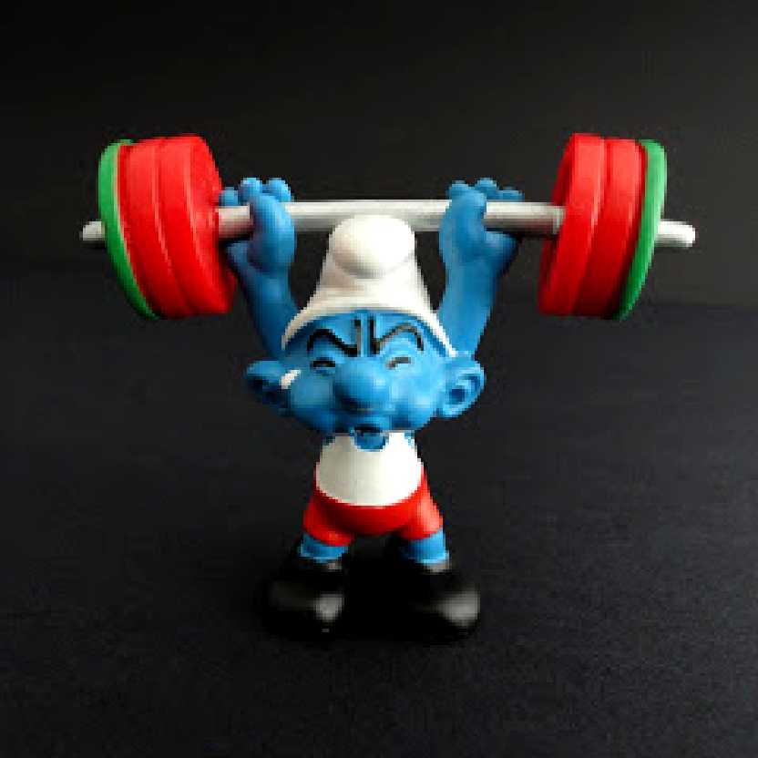 Smurf Halterofilista marca Schleich 20737 Weightlifter Smurf