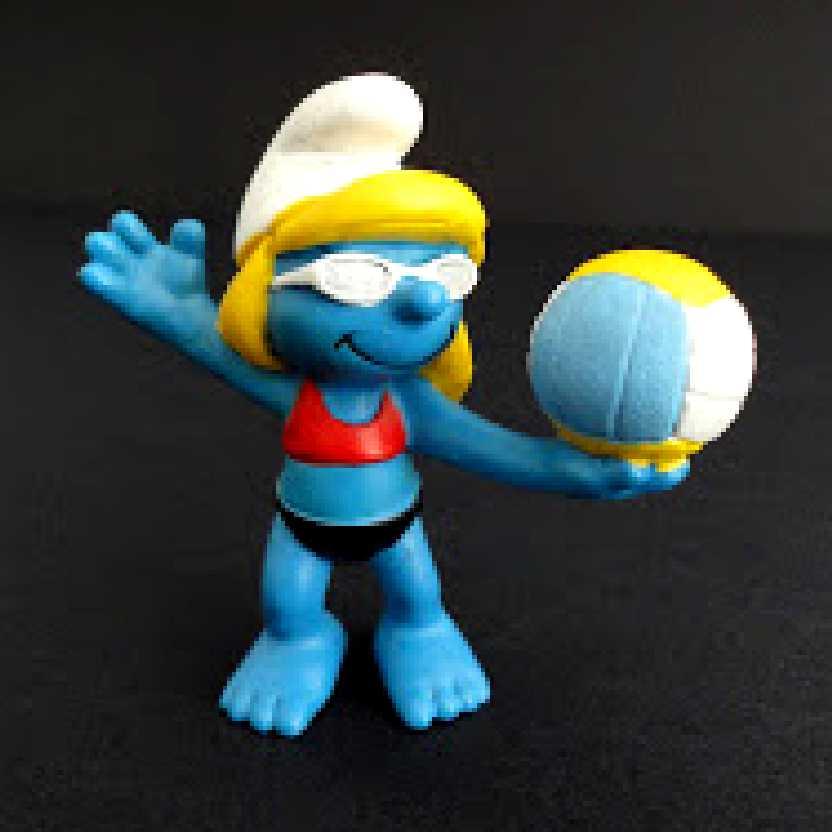 Smurf Jogadora de Vôlei marca Schleich 20738 Beach Volleyball Smurf