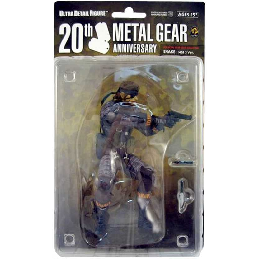 Snake Metal Gear Solid 3 MGS 3 20th Anniversary marca Medicom action figures