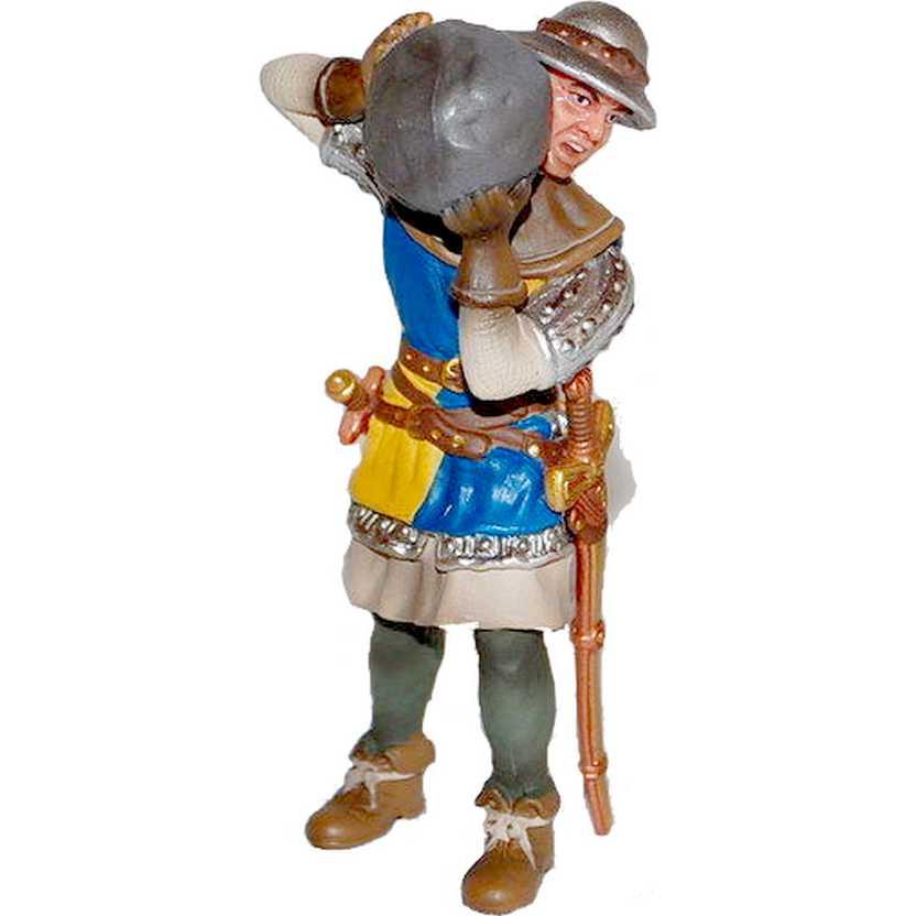 Soldado de infantaria com pedra marca Schleich - 70053