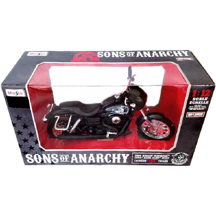 Sons Of Anarchy Jackson (Jax) Teller 2003 Harley-Davidson Dyna Super Glide Maisto escala 1/12