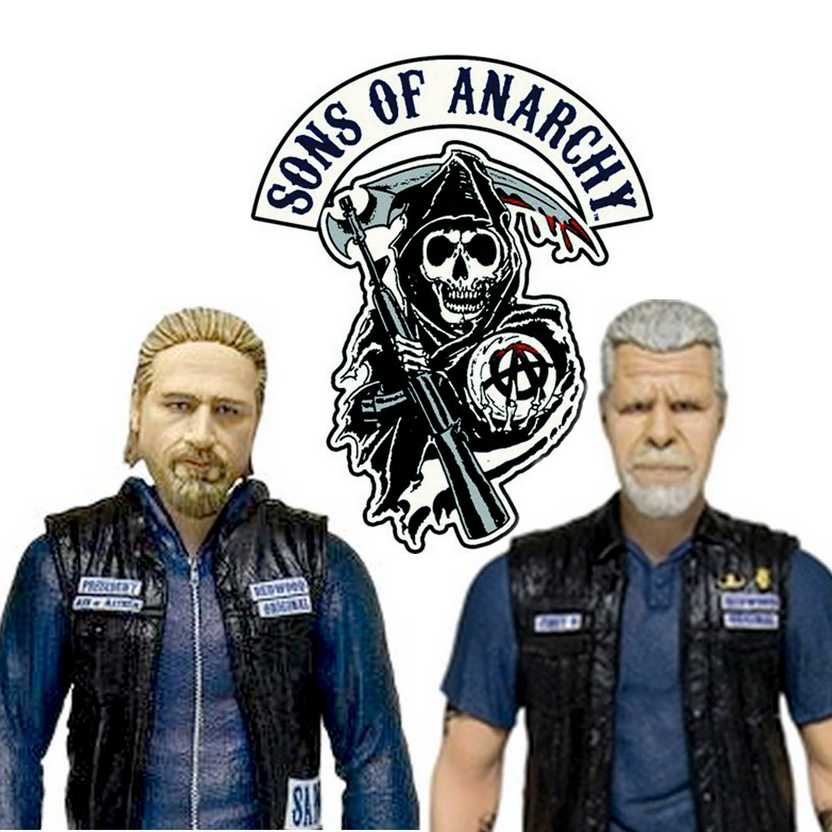 Sons of Anarchy - Jax Teller e Clay Morrow - Mezco Toyz Action Figures