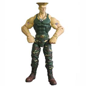 Sota Toys Street Fighter Action Figure Guile série 3 (aberto)