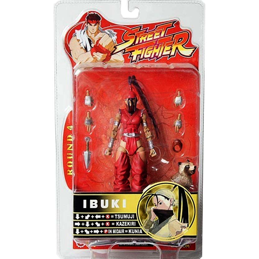 Sota Toys Street Fighter Ibuki Tan Round 4 Action Figure 6 Red