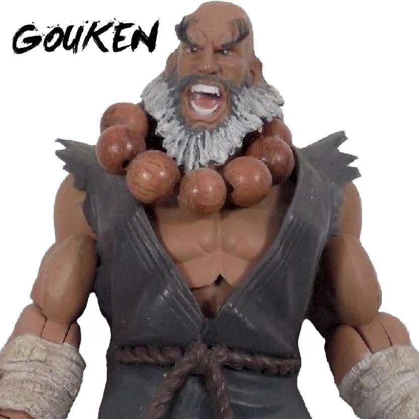 Sota Toys Street Fighter Master Gouken Battle Cry SDCC Exclusive (ABERTO) raridade 2000 peças