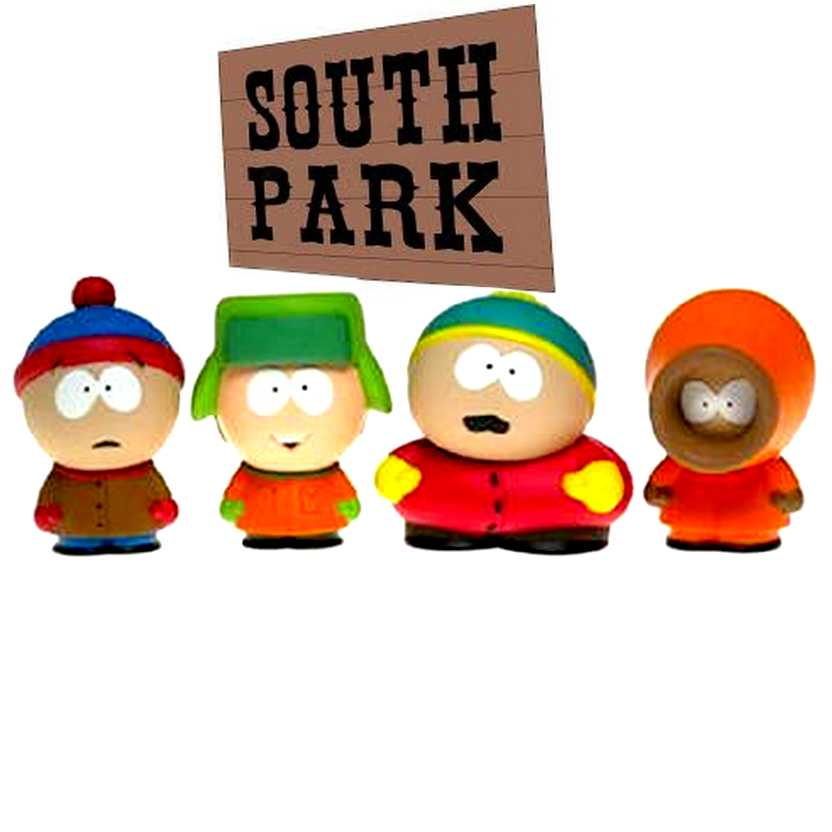 South Park 4-Pack ( Cartman, Stan, Kyle e Kenny ) Mirage Toys 2004