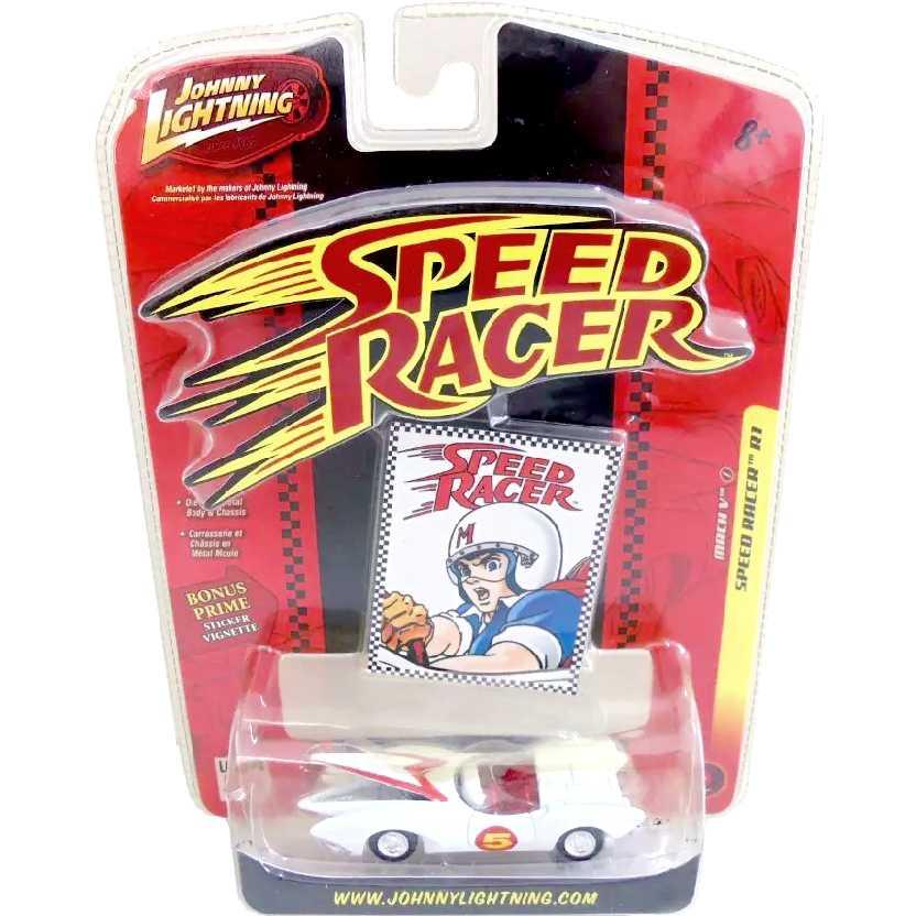 Speed Racer Mach 5 ed. limitada Johnny Lightning (abre o capô do motor) escala 1/64