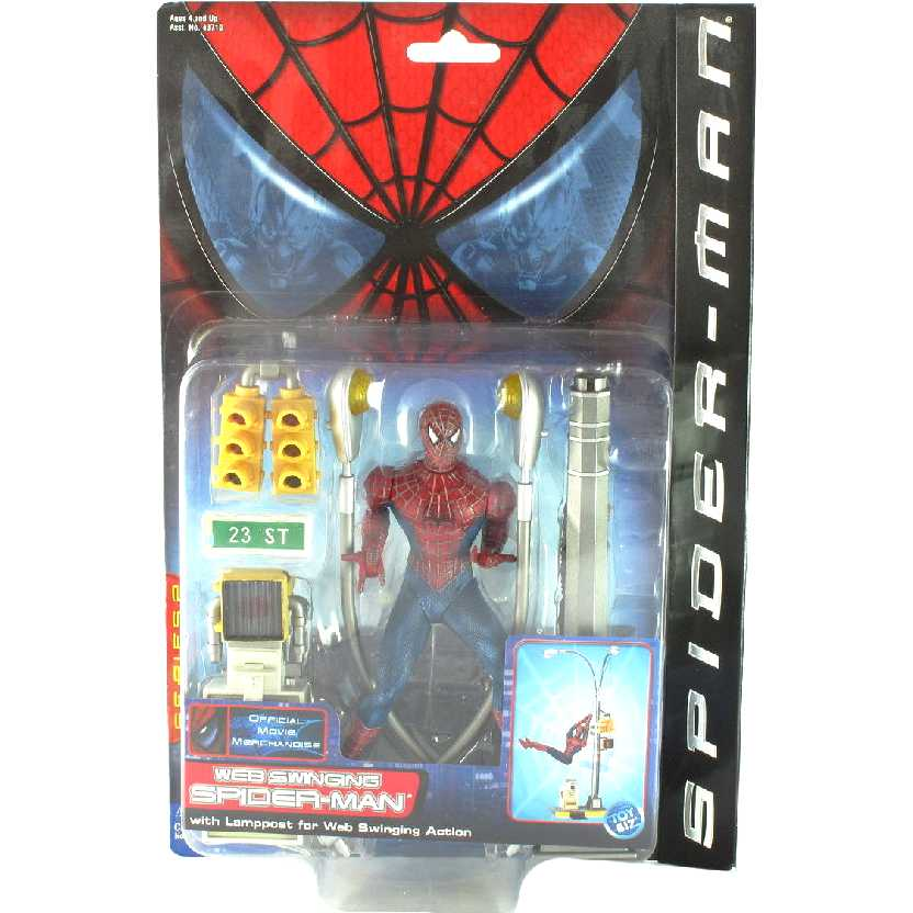 Spider Man Bonecos Articulados Web Swinging SpiderMan Toy Biz Action Figures Brasil