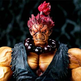 Square Enix Akuma Street Fighter IV Play Arts Kai Action Figures ( Gouki )