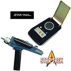 Star Trek Phaser +e TOS Communicator 9 Frases (aberto)