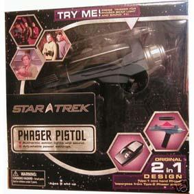 Star Trek  Phaser Pistol - Eletrônico (aberto)