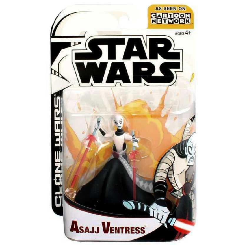 Star Wars Cartoon Network Asajj Ventress Hasbro Action Figure