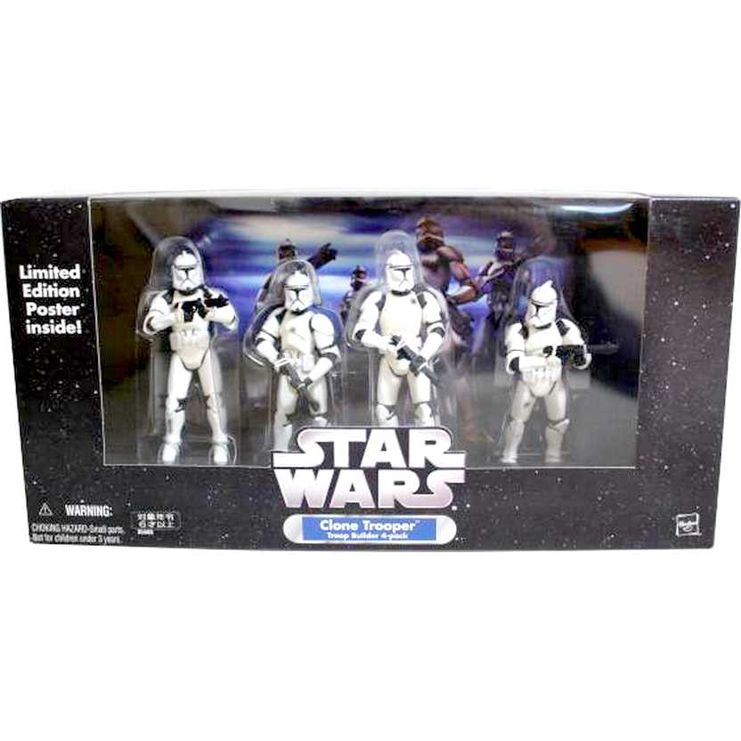 Star Wars Clone Trooper with battle damage - Troop Builder (4 pack) Hasbro action figures