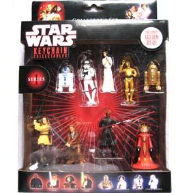 Star Wars coleção chaveiros (série 1) 9 pçs