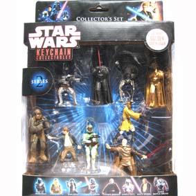 Star Wars coleção chaveiros (série 2) 9 pçs