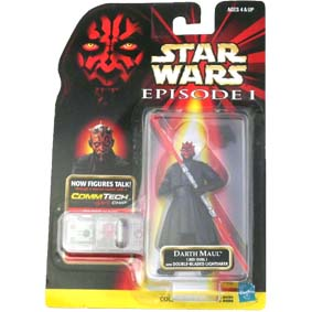 Star Wars Episode 1 Darth Maul Double-bladed Lightsaber + Commtech Chip