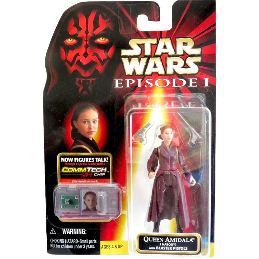 Star Wars Episode 1 - Queen Amidala (Naboo) with blasters pistols - Hasbro action figure
